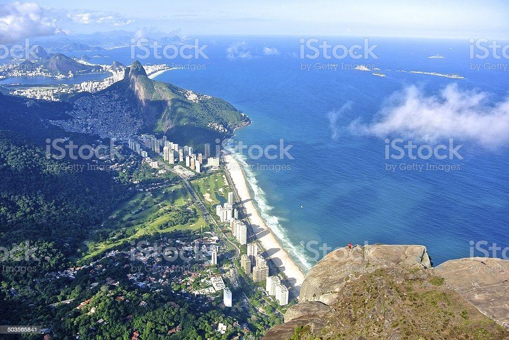 Aerial view of Rio de Janeiro stock photo