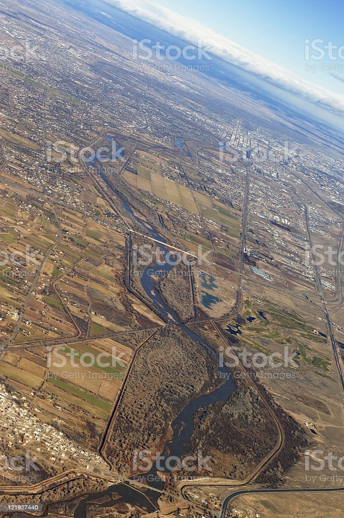 Aerial View of Rio Grande Valley royalty-free stock photo