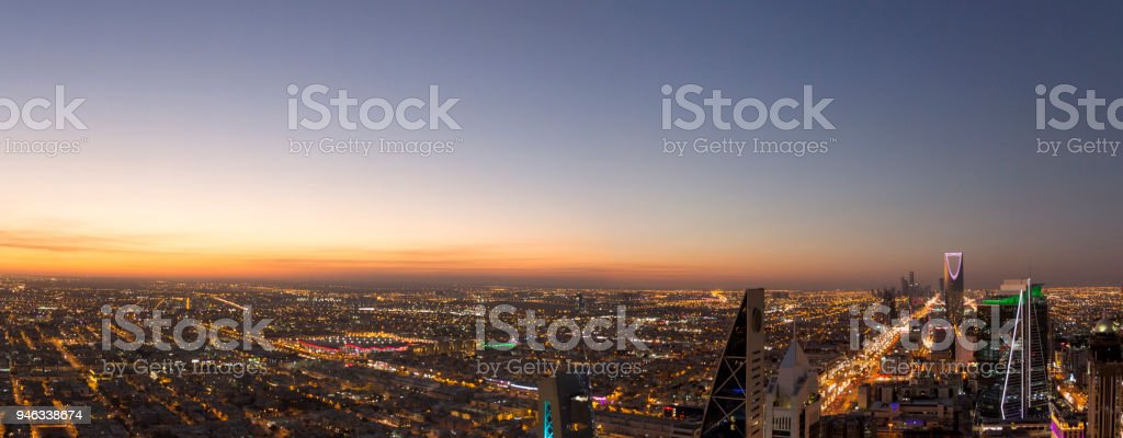 Aerial view of Riyadh City, the capital of Saudi Arabia – zdjęcie