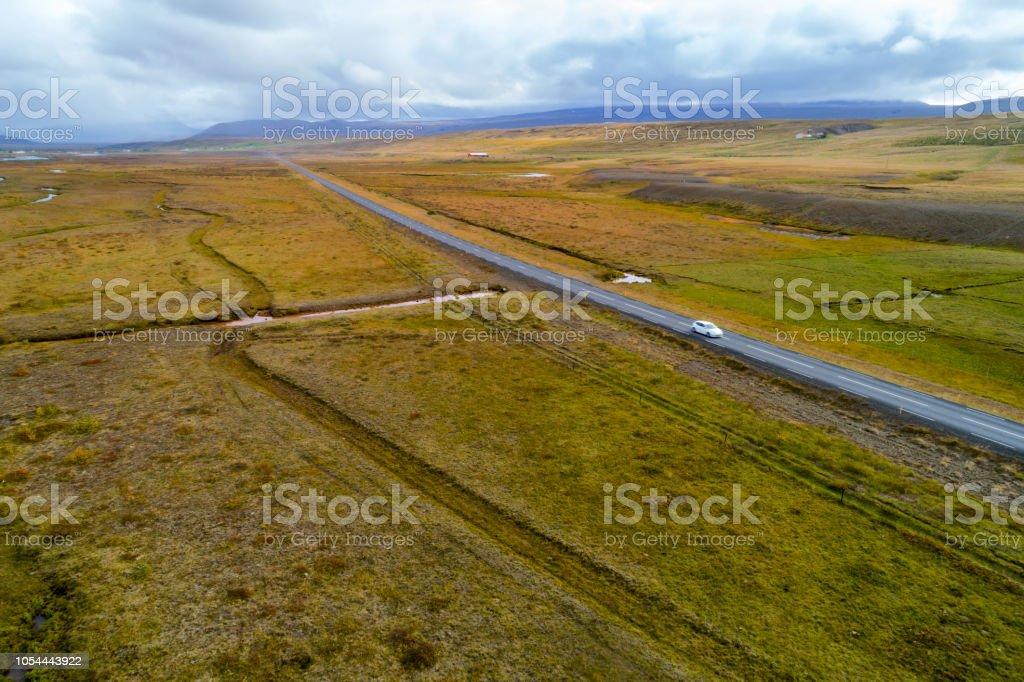 Luftaufnahme der Straße in Island – Foto
