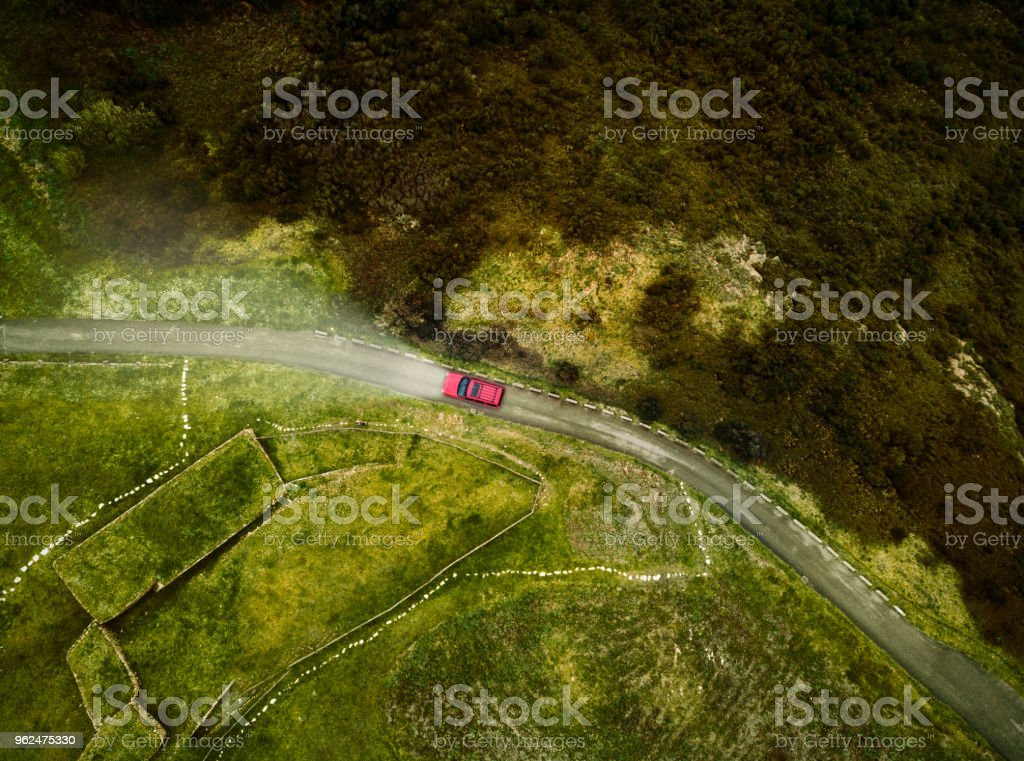 Aerial View of road Aerial View of road Aerial View Stock Photo