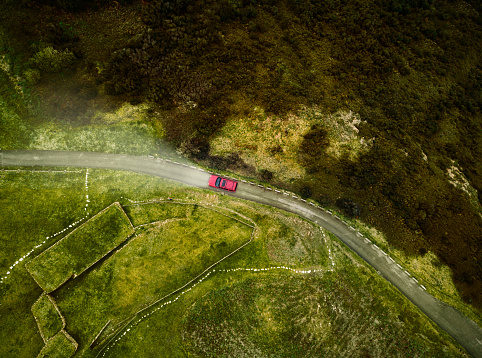 Aerial View Of Road Stock Photo - Download Image Now