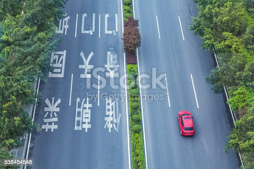 94502198istockphoto aerial view of road thaffic 538454548