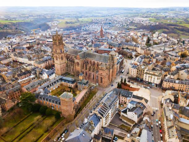 Luftaufnahme von Rodez – Foto