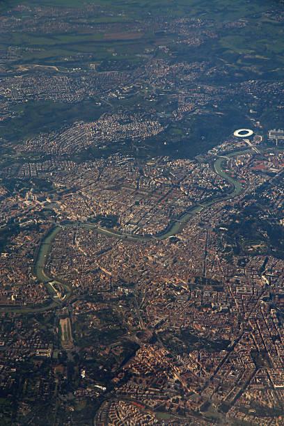 Luftbild von Rom, Italien aus dem Flugzeug-Fenster – Foto