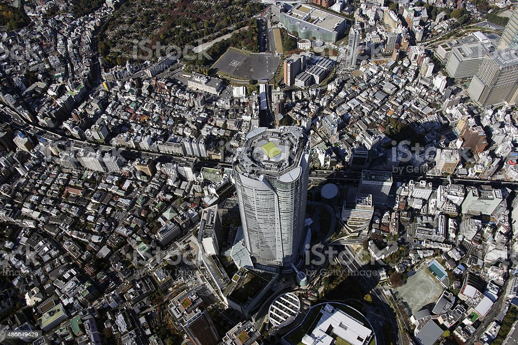 Aerial view of Roppongi areas stock photo
