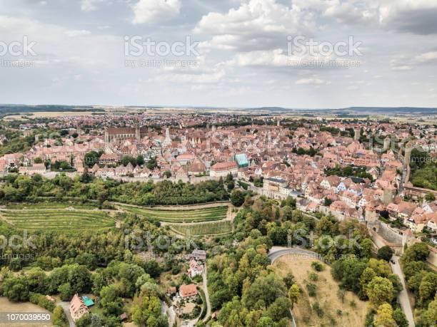 Luchtfoto Van Rothenburg Duitsland Stockfoto en meer beelden van Antiek - Toestand