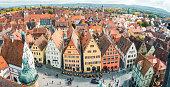 istock Aerial view of Rothenburg ob der Tauber, Bavaria, Germany 1145695978