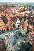 istock Aerial view of Rothenburg ob der Tauber, Bavaria, Germany 1154784563