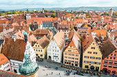 istock Aerial view of Rothenburg ob der Tauber, Bavaria, Germany 1161934659
