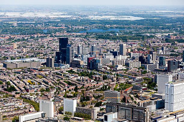 Aerial view of Rotterdam foto