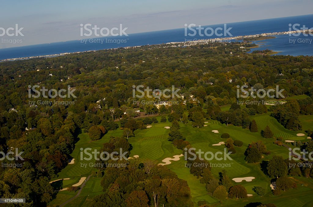 Aerial View of Rumson, New Jersey royalty-free stock photo