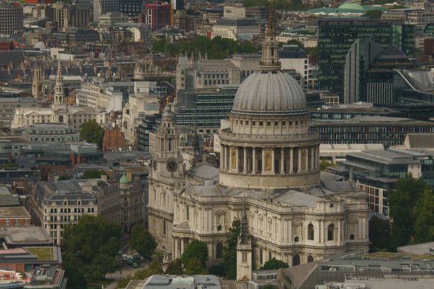 Aerial View of Saint Paul's Cathedral stock photo