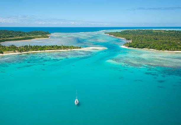 Aerial view of Sainte Marie island, Madagascar stock photo