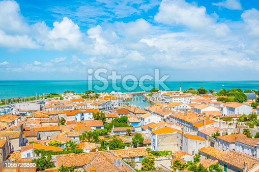 Aerial view of Saint-Martin-de-Ré, France