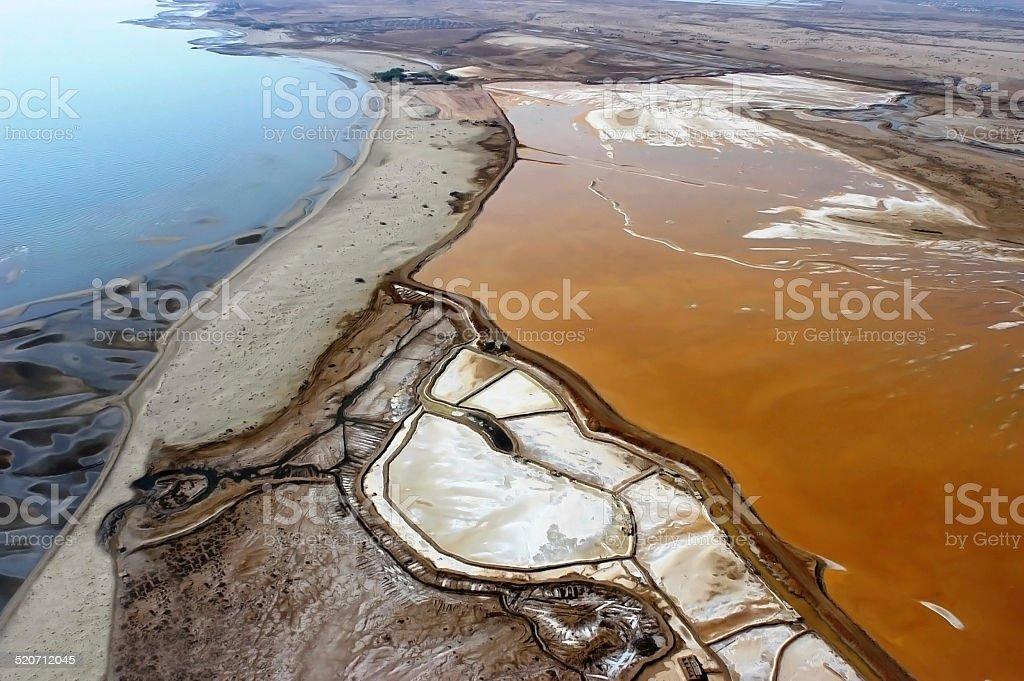 Aerial view of Salina to Eritrea stock photo