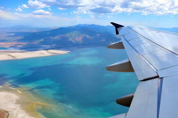 Luftaufnahme des Salzsees – Foto