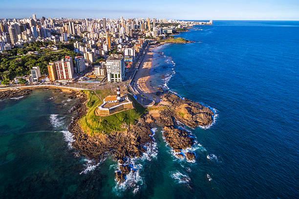 Luftaufnahme von Salvador da Bahia Stadt, Bahia, Brasilien – Foto