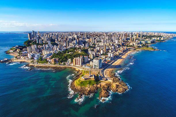 vista aérea da cidade de salvador da bahia, bahia, brasil - nordeste - fotografias e filmes do acervo