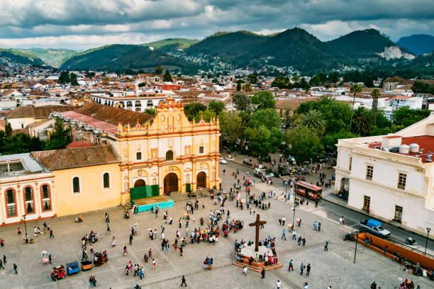 Luftaufnahme von San Cristobal de Las Casas, Chiapas Mexiko – Foto