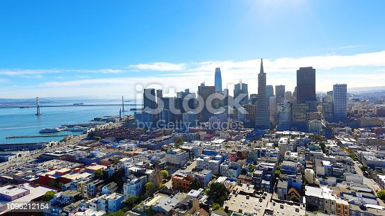 Aerial view of San Francisco from Coit Tower