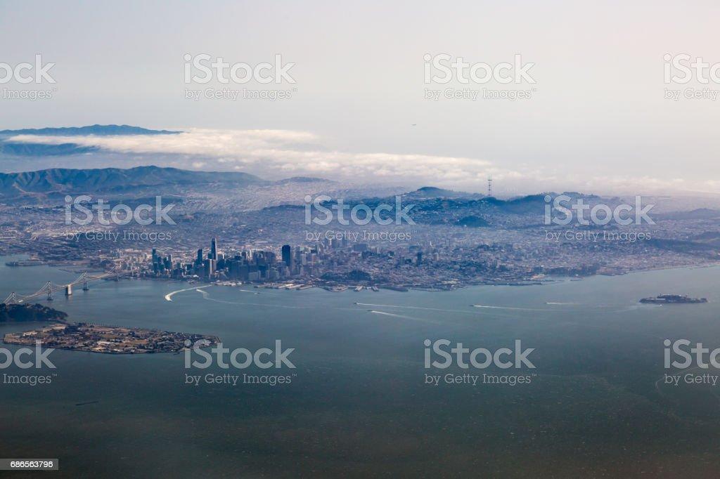 Vue aérienne de San Francisco photo libre de droits