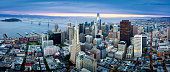 Aerial View of San Francisco Skyline at Sunrise, California, USA