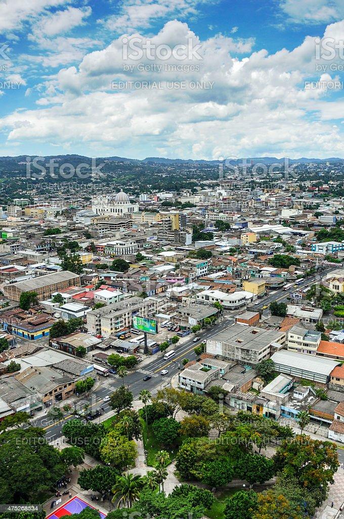 Aerial View of San Salvador stock photo