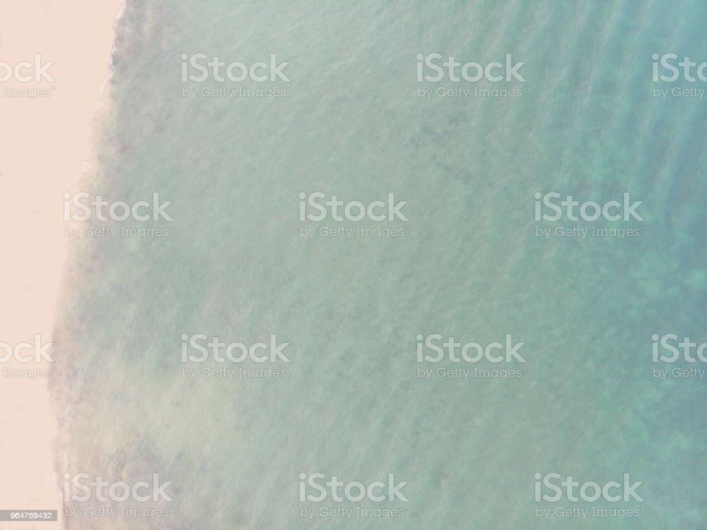Aerial View of Sandy Beach and Blue Ocean royalty-free stock photo