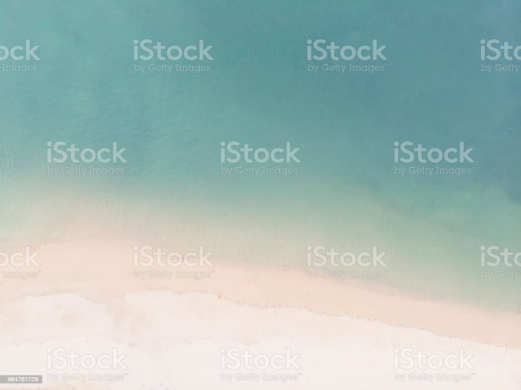 Aerial View of Sandy Beach and Blue Sea royalty-free stock photo