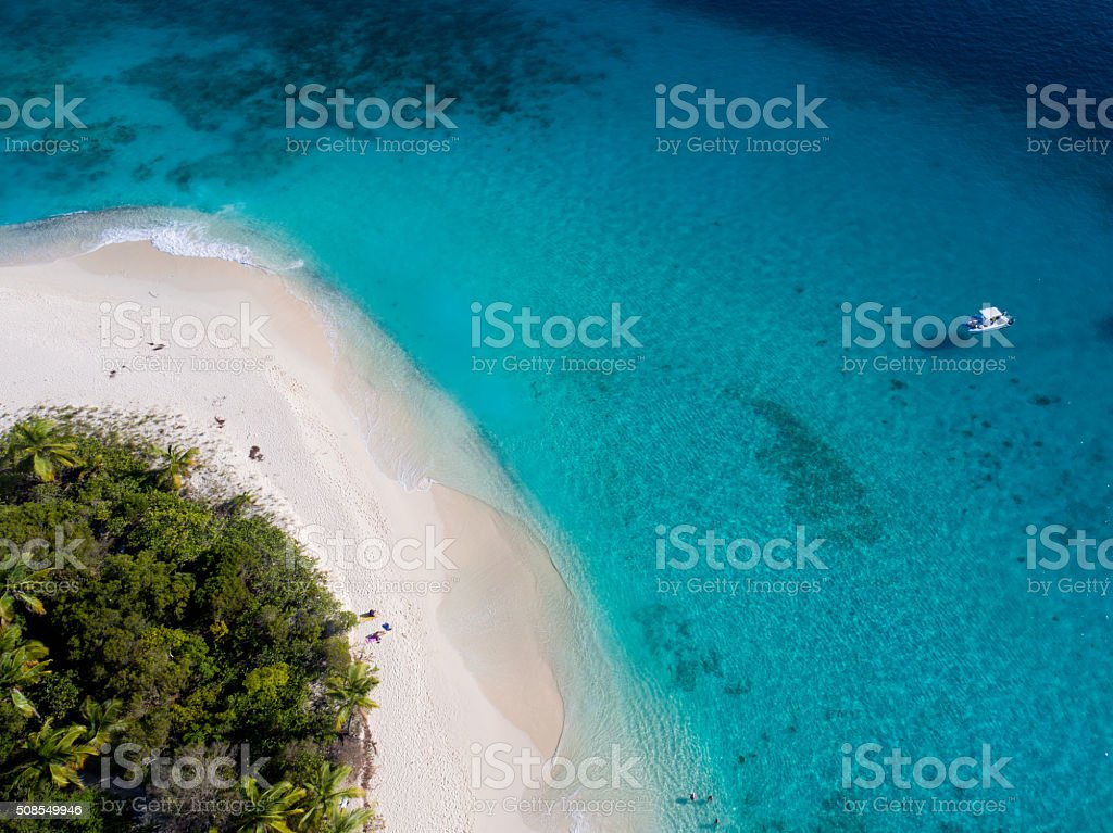 aerial view of Sandy Cay, British Virgin Islands圖像檔