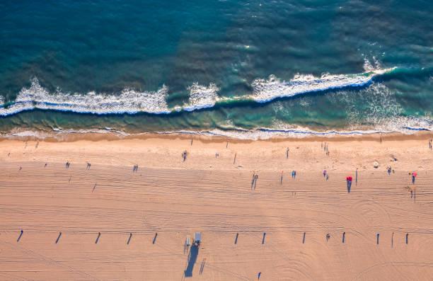 Aerial View of Santa Monica Beach stock photo