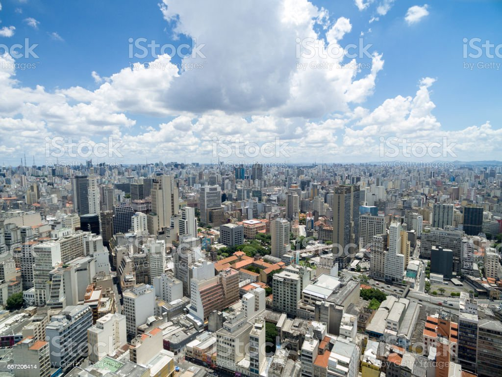 Aerial View of Sao Paulo Downtown, Brazil royalty-free stock photo