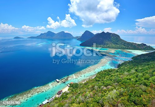 istock Aerial view of scenic tropical island, Bohey Dulang 478234780