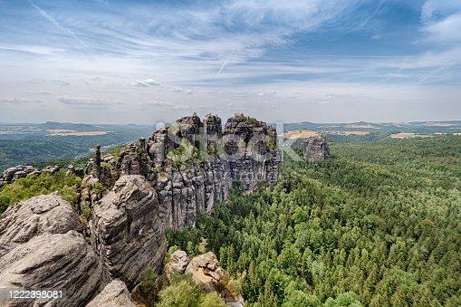 Schrammsteine Rocks formation at Saxon Switzerland National Park - Bad Schandau - Germany