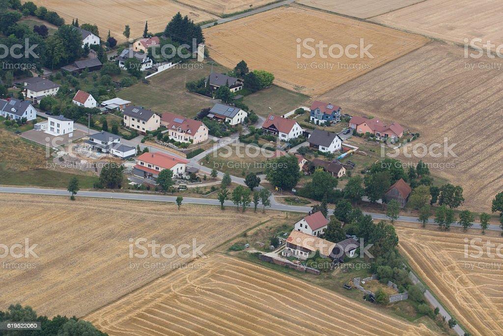 aerial view of Schwandorf stock photo