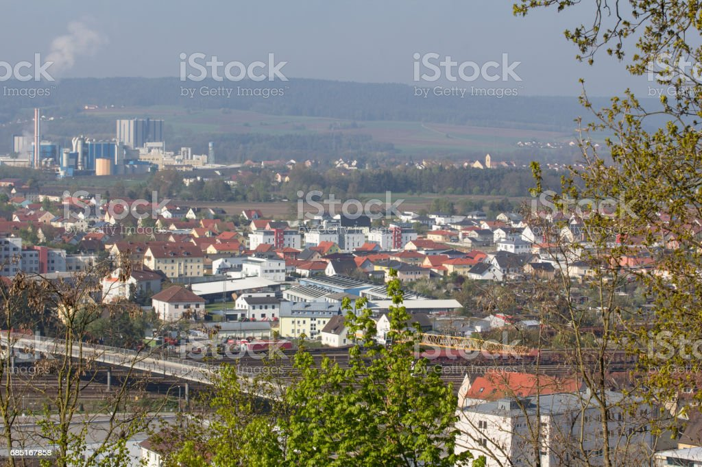 aerial view of Schwandorf royalty-free stock photo