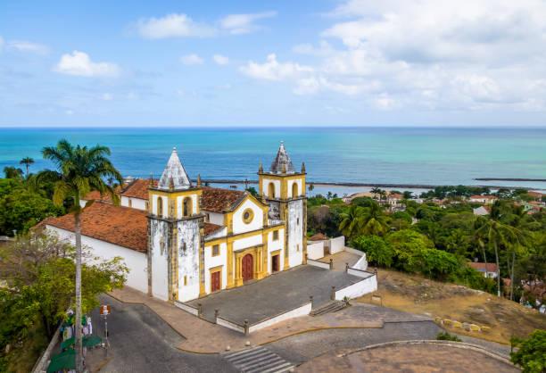 vista aérea da sé catedral - olinda, pernambuco, brasil - recife e olinda - fotografias e filmes do acervo