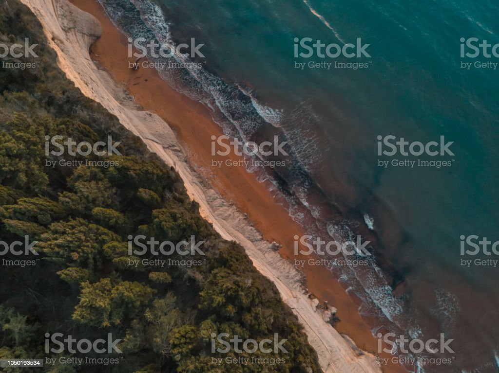 Aerial View Of Sea And Beach stock photo