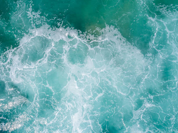 Luftaufnahme der Meereswellenoberfläche – Foto