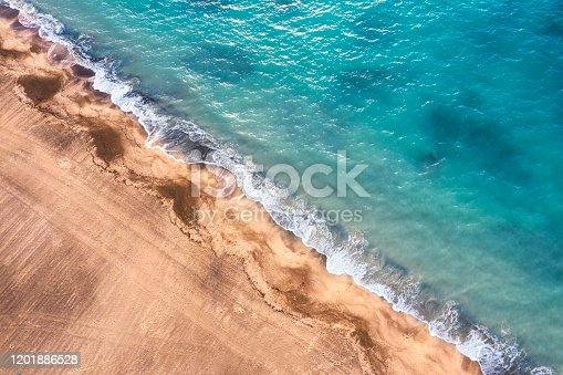 Aerial view of seashore