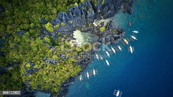 istock Aerial view of Secret Beach, Palawan, Philippines 958122802