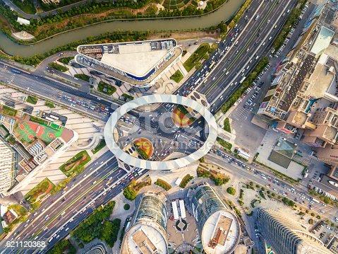 695675608 istock photo Aerial view of Shanghai Highway 621120368