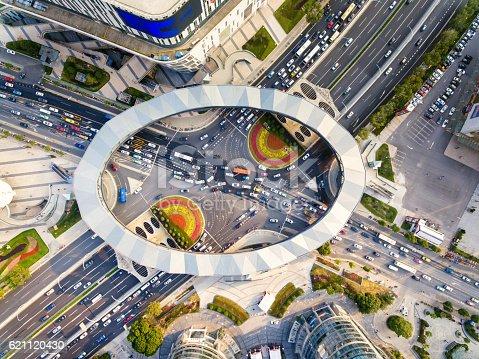 695675608 istock photo Aerial view of Shanghai Highway 621120430