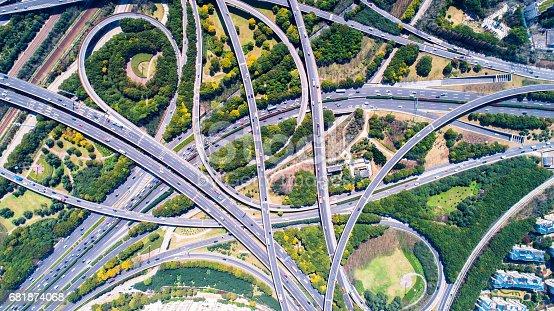 695675608 istock photo Aerial view of Shanghai Highway 681874068