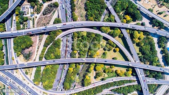 695675608 istock photo Aerial view of Shanghai Highway 681876782