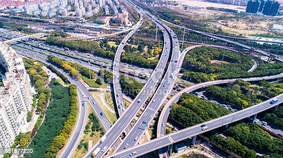 695675608 istock photo Aerial view of Shanghai Highway 681877220