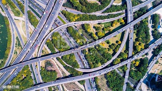 695675608 istock photo Aerial view of Shanghai Highway 681881748