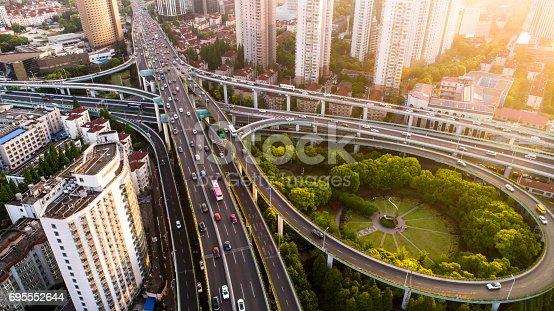 695675608 istock photo Aerial view of Shanghai Highway 695552644