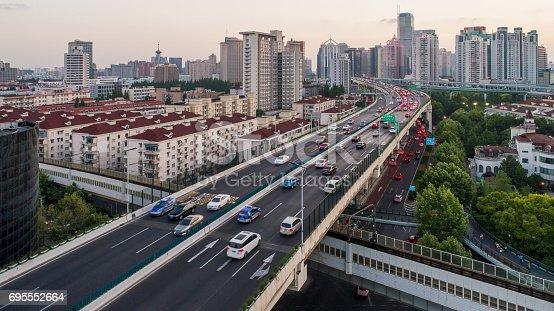 695675608 istock photo Aerial view of Shanghai Highway 695552664